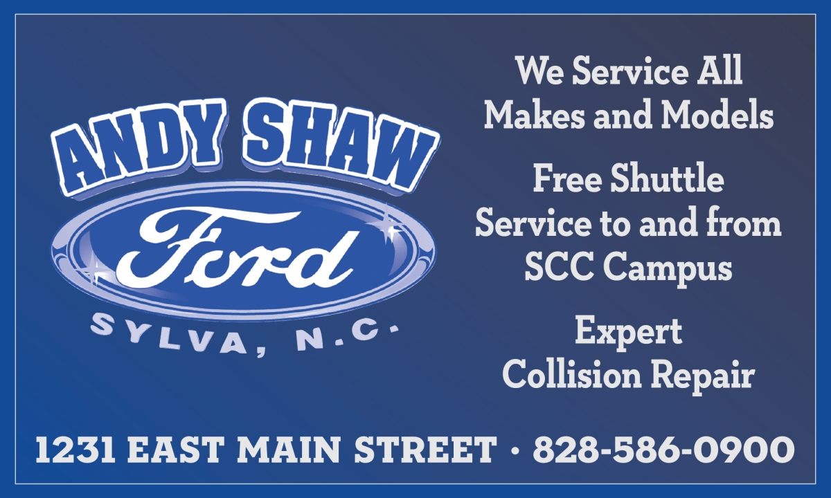 Free Shuttle from Andy Shaw Ford. Call 828-586-0900