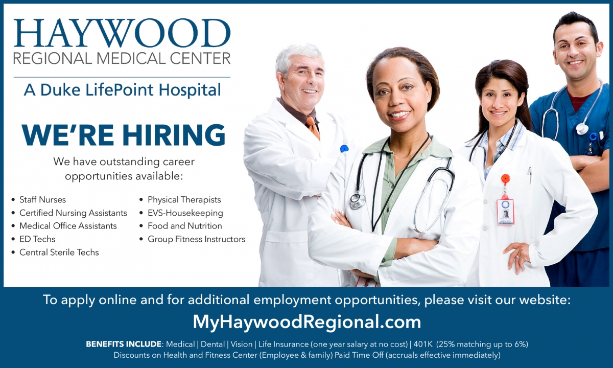 Haywood Regional Medical Center is Hiring - Click Here
