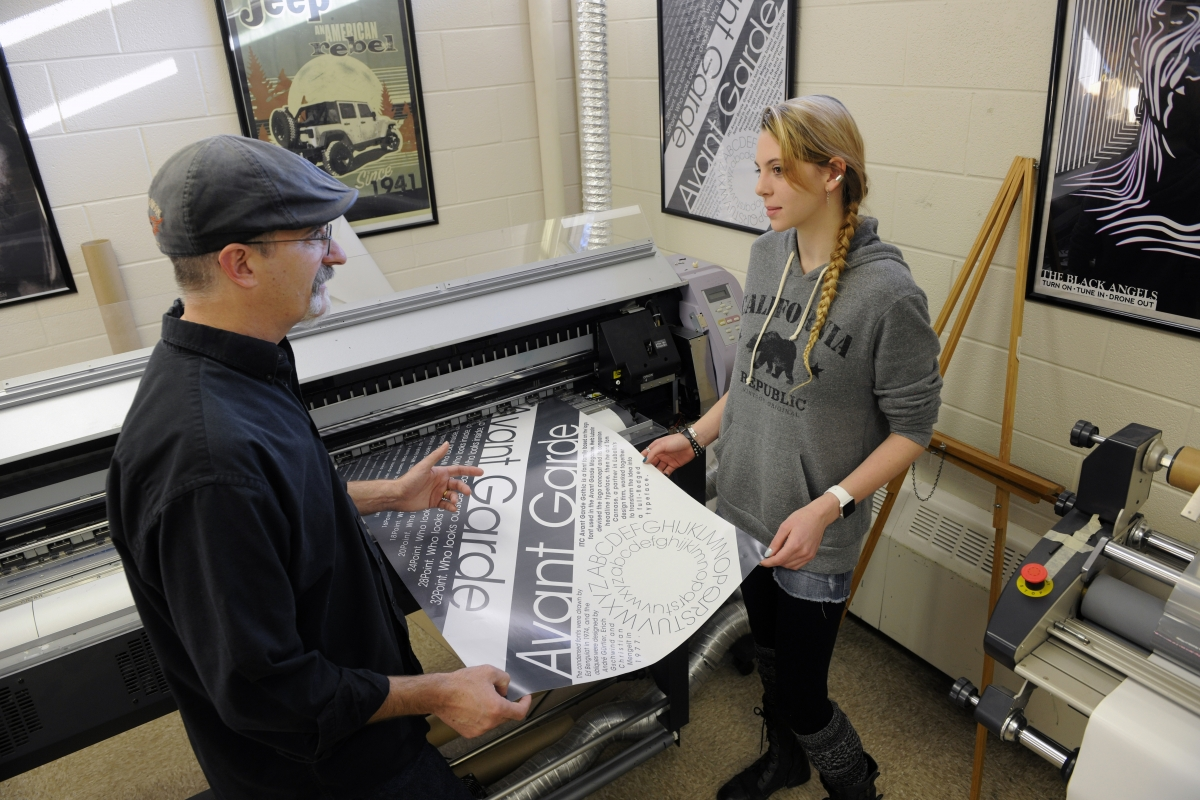 Job Shadowing at Print Shop