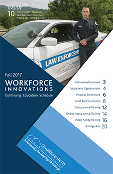 Fall 2017 Workforce Innovations printed schedule.