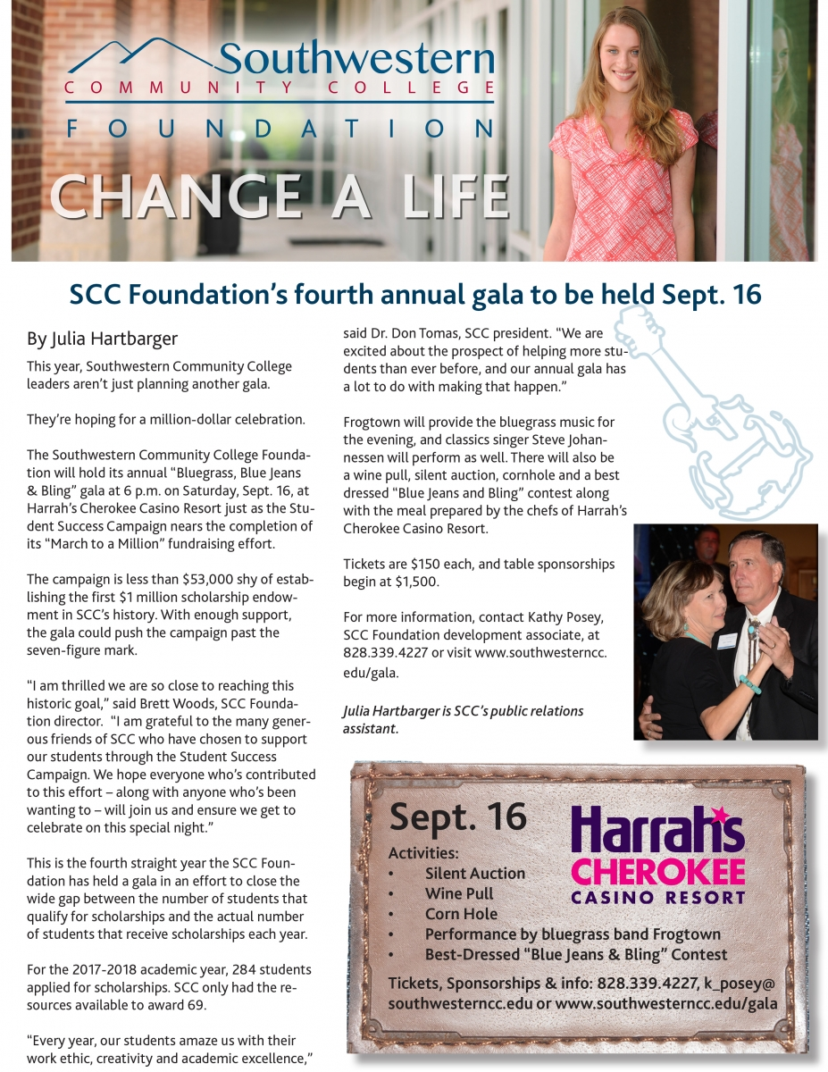 Cover of Fall, 2017, SCC Foundation Newsletter