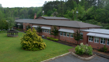 Ariel view of Swain Center