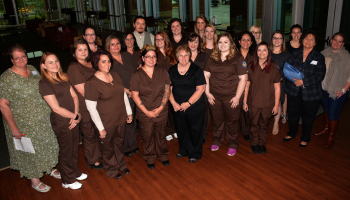 SCC nurse aide program graduates at their pinning ceremony on May 4.