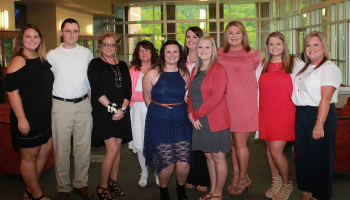 SCC respiratory therapy students pose for group picture before their pinning ceremony.