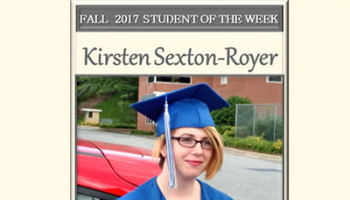SCC Student of the Week Kirsten Sexton-Royer.