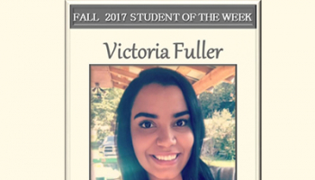 SCC Student of the Week Victoria Fuller.