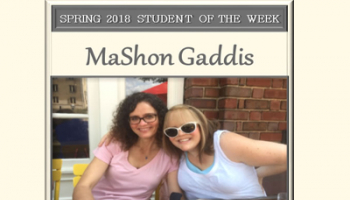 SCC Student of the Week MaShon Gaddis.