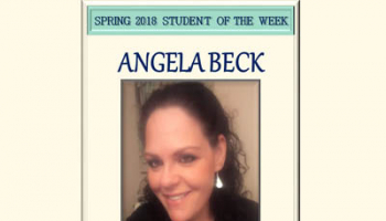 SCC Student of the Week Angela Beck.