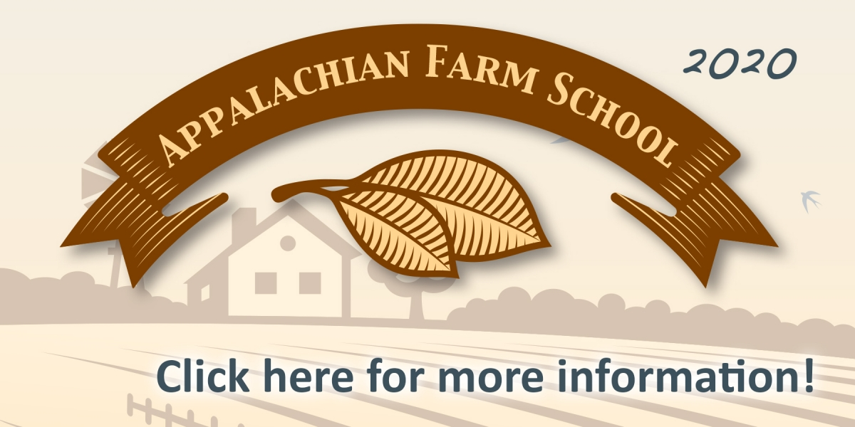 Appalachian Farm School is Jan 9 - Feb 27 at 6-9 p.m. Click here for more details.