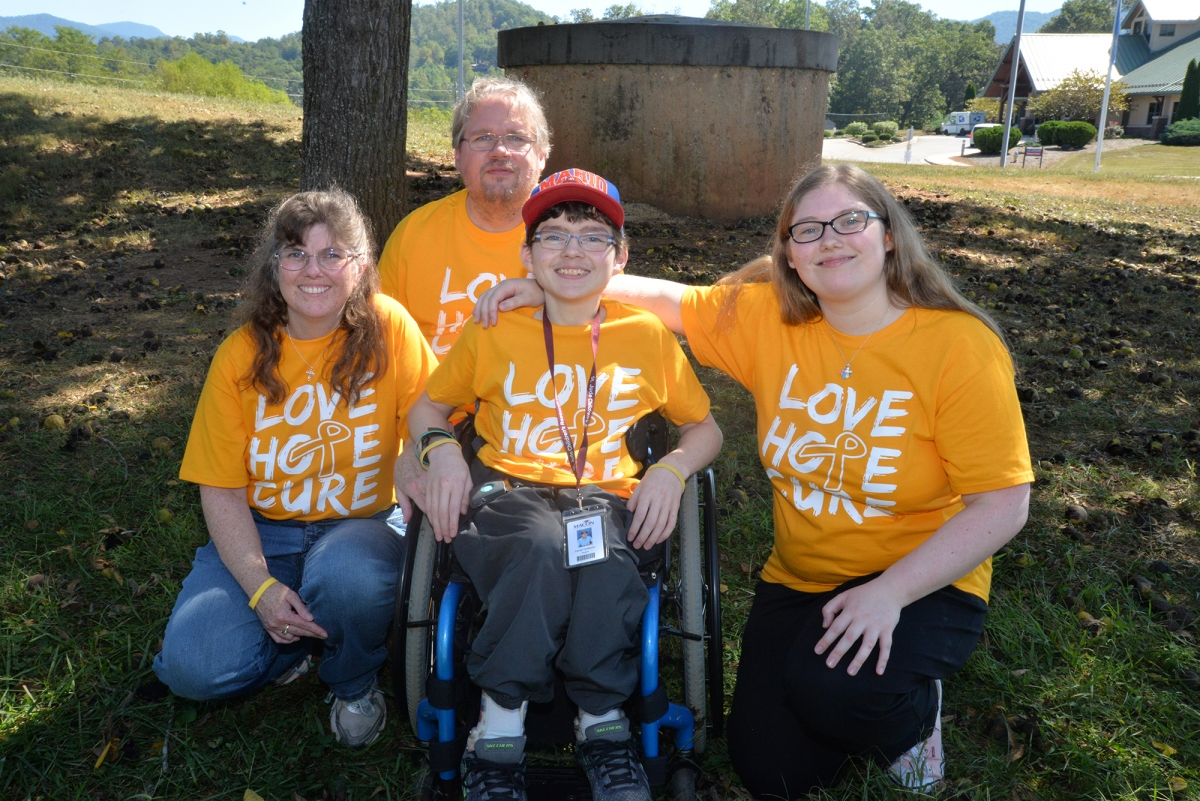 Daniel Tomberlin (center) is pictured here with his family, from left: Cindy, Jody and Heather Tomberlin on Sept. 25 in Franklin.