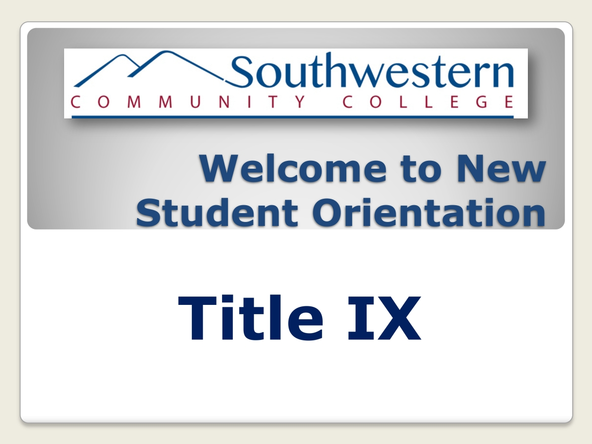 Click here to view the Title IX presentation