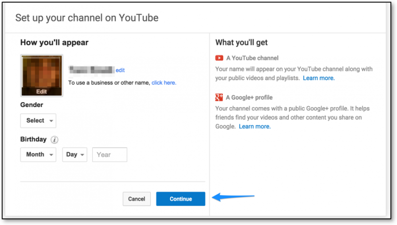 Setting up channel screenshot