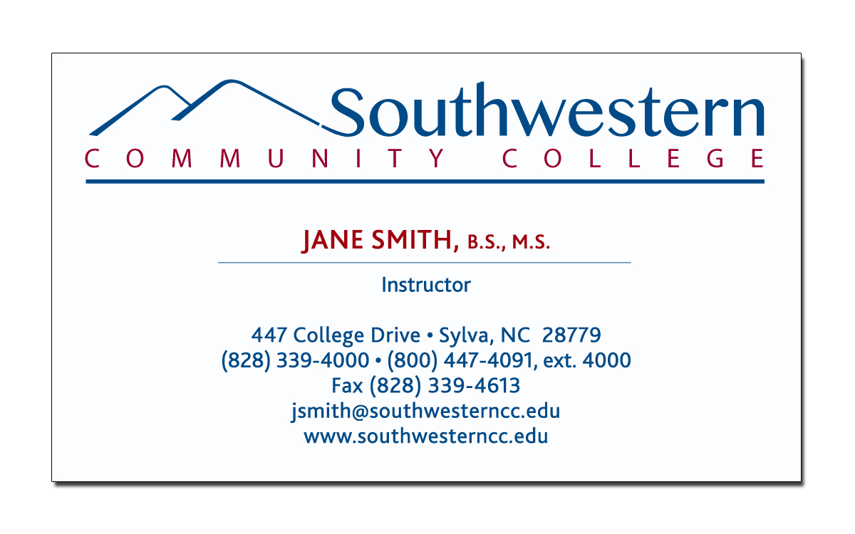 Business card request form southwestern community college