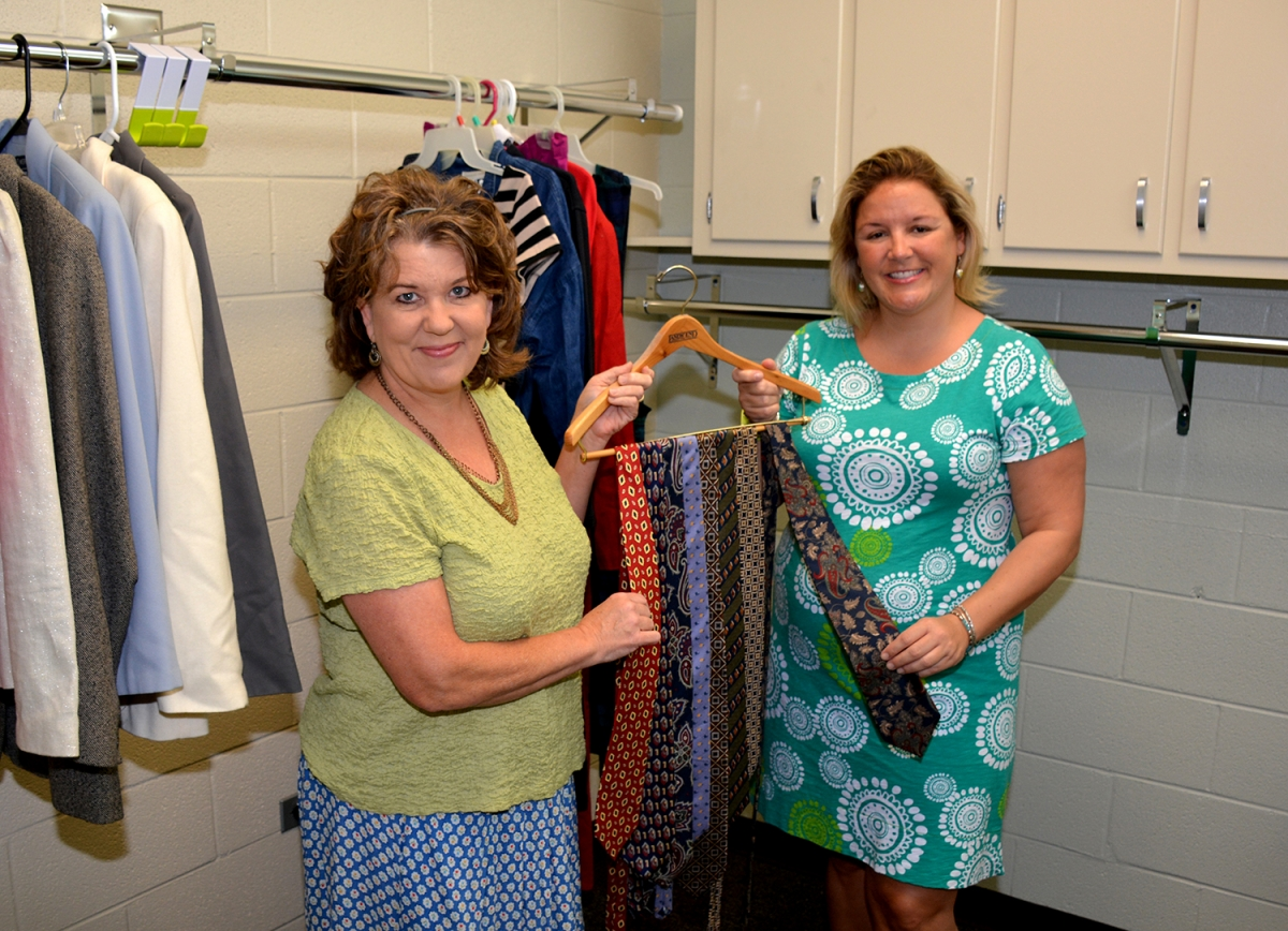 Photo of the first donation to the Career Closet at SCC