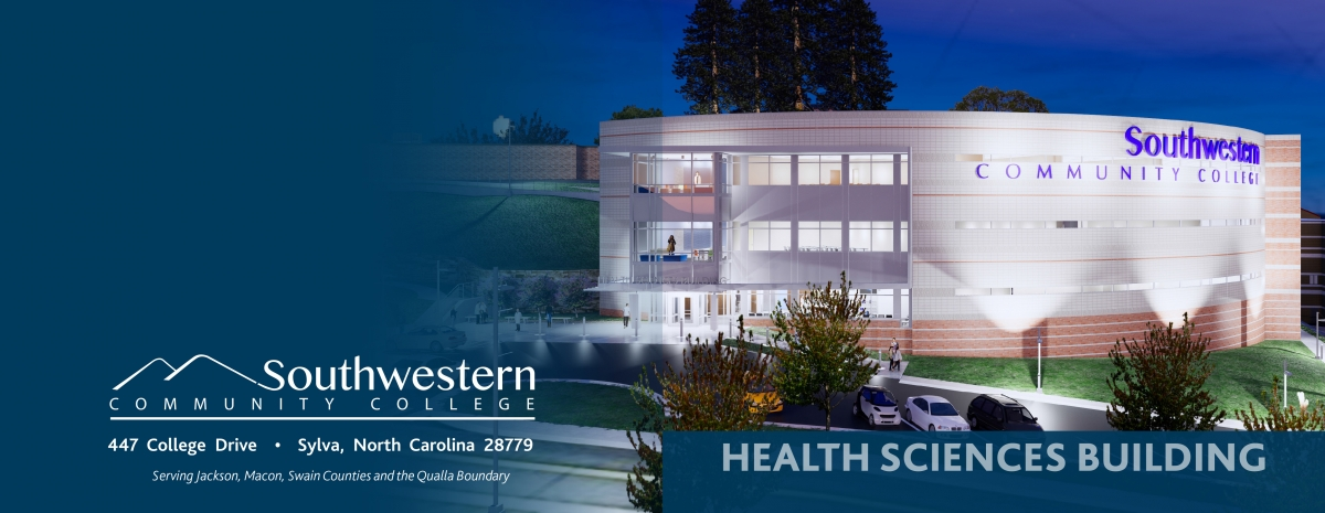 Cover photo of brochure about SCC's New Health Sciences Building
