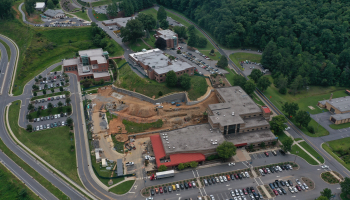 Aerial photo of SCC's Jackson Campus