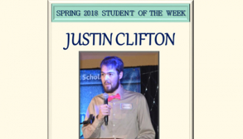 SCC student of the week Justin Clifton.