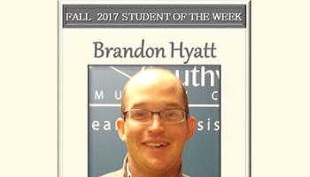 SCC Student of the Week Brandon Hyatt.