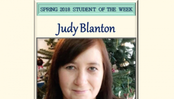 Student of the Week Judy Blanton