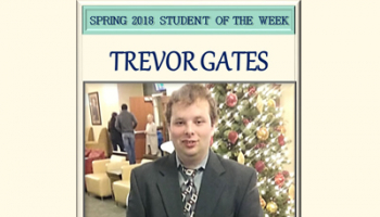 SCC Student of the Week Trevor Gates