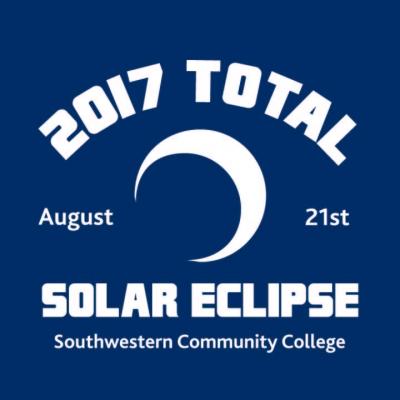2017 SCC's Total Solar Eclipse t-shirt graphic