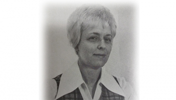 Black & white photo of Sybil Reed taken from SCC's 1975 yearbook.