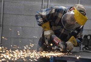 A man is welding