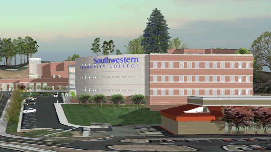 Artist rendering of the new health building.